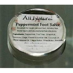 Peppermint Foot Salve (2.5 oz tin)