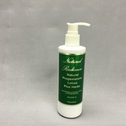 Progesterone Crème + Herbs - unscented (8oz pump bottle)